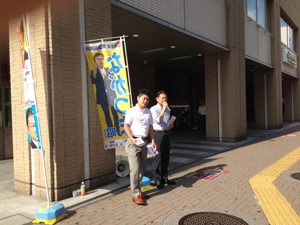 2014年7月30日(水)ながつま昭衆議院議員と高円寺駅で街頭演説